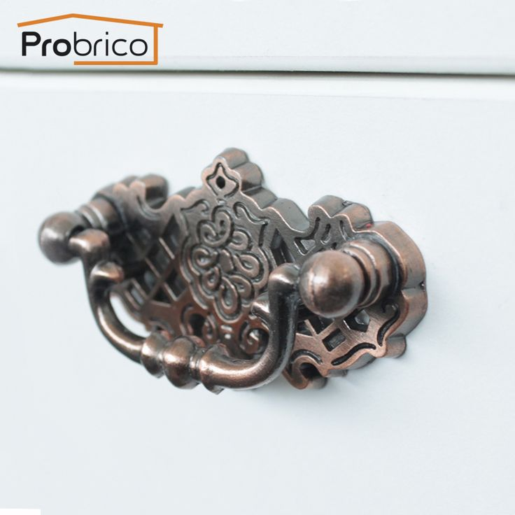 probrico antieke meubels lade handgrepen pdf152ac geborsteld koper zink legering vintage keuken kast knop kast trekt(China (Mainland))