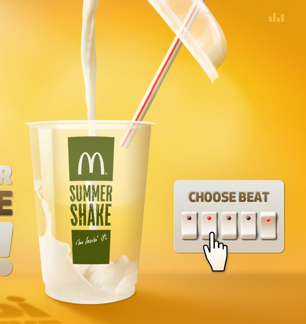 Cocio Summer Shake Up! from McDonald's by Jacob Grubbe, via Behance