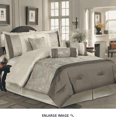 7Pcs King Yurika Taupe/Beige Comforter Set - $89.99