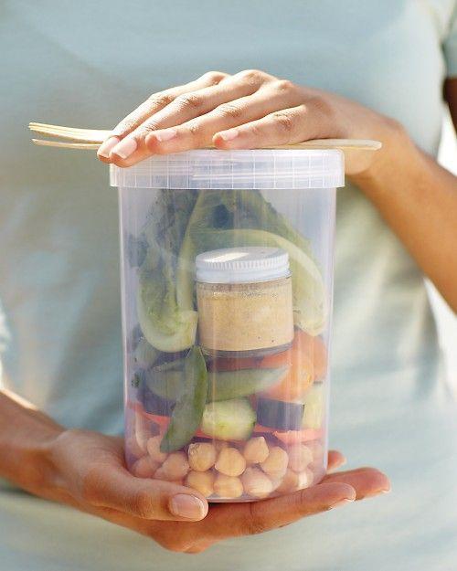 Avoid Soggy Salads - Martha Stewart Light & Healthy: Avoid Soggy, Soggy Salads, Lunch Ideas, Stewart Light, Martha Stewart, Healthy Food, Storage Container