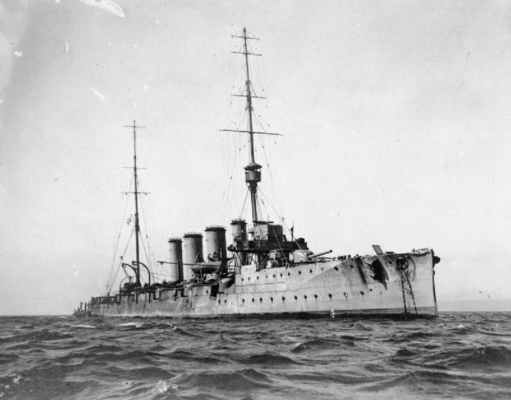 HMS Glasgow, one of the British ships at the Battle of the Falkland Islands 8th December 1914 http://www.britishbattles.com/battle-of-the-falkland-islands/