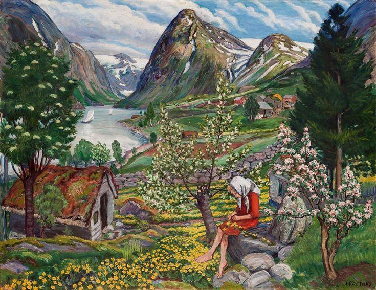 Kari, Landscape from Sunde - Nikolai Astrup