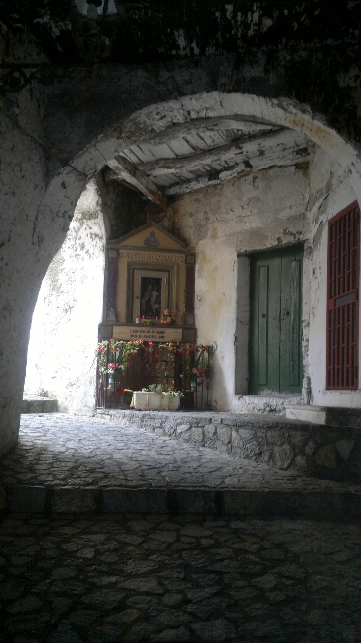 Votive shrine in the village of Scalea, Calabria, Italy.