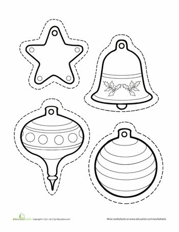 Worksheets: Paper Christmas Ornaments
