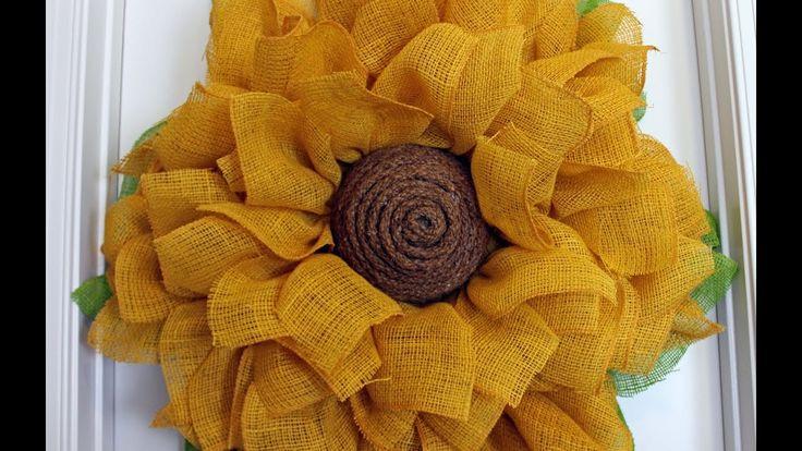 How to make a burlap sunflower wreath