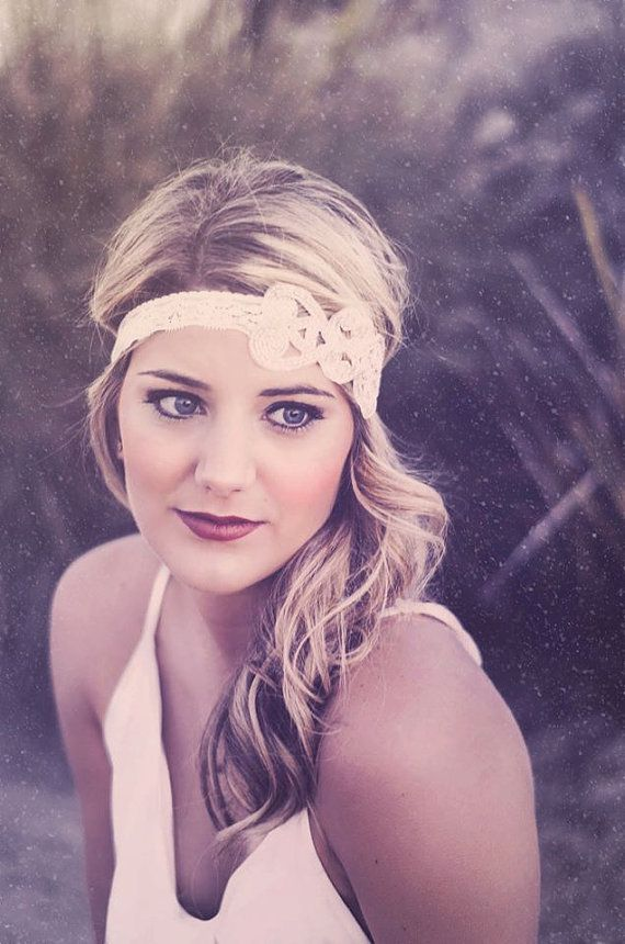 www.Jadorelexiecouture.com Beverly and Ivory Lace Great Gatsby Headband by JadoreLexieCouture, Gracie Days Photography