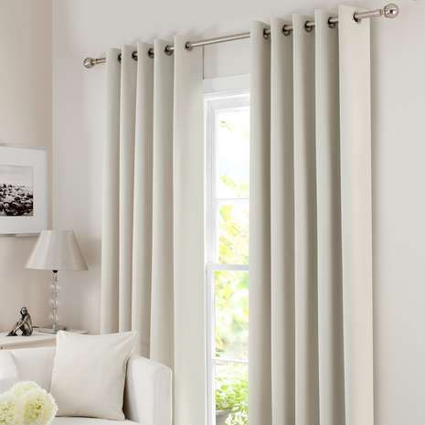 Crafted in a cool natural shade and featuring an eyelet header, these curtains feature a thick blackout lining to minimise noise, draughts and unwanted light....