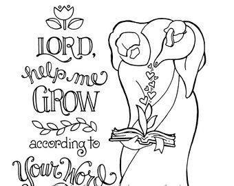 My Words Shall Not Pass Away Coloring Page 85X11 Bible