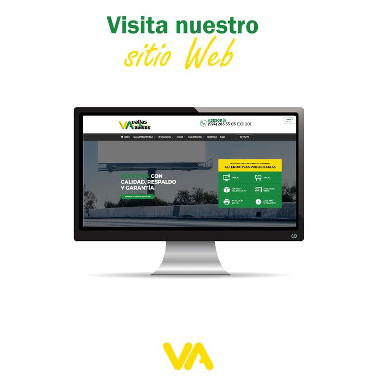Entra a nuestro nuevo sitio web www.vallasyavisos.com y prepárate para tener una experiencia única y sorprendente. #PublicidadExterior