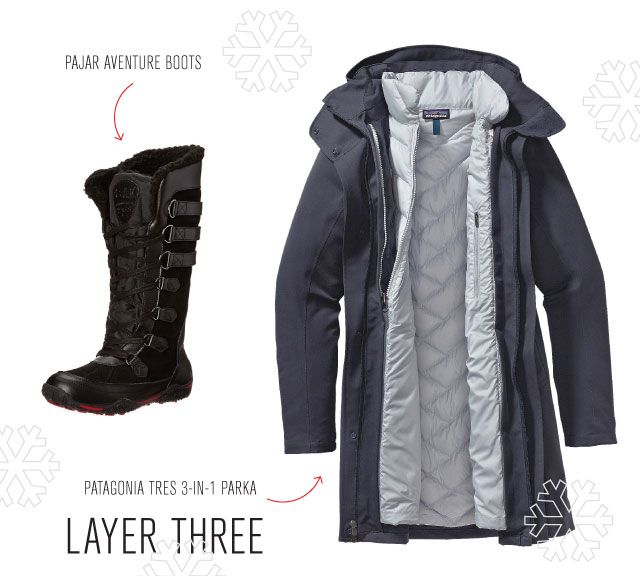 the warmest winter jacket and boots for a boston winter