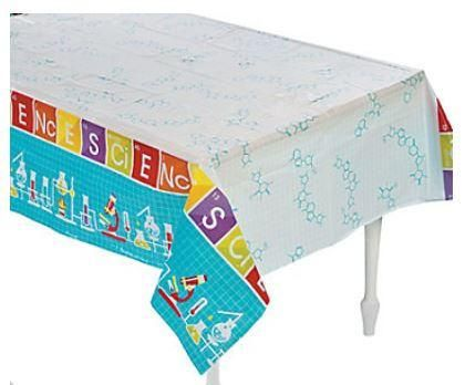 Science Party Tablecover, Plastic Table Cloth, Tablecloth