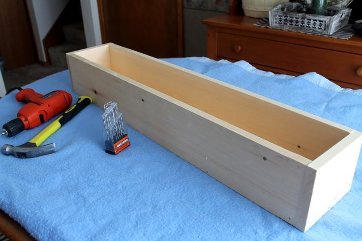 DIY wooden box - mould for soap making