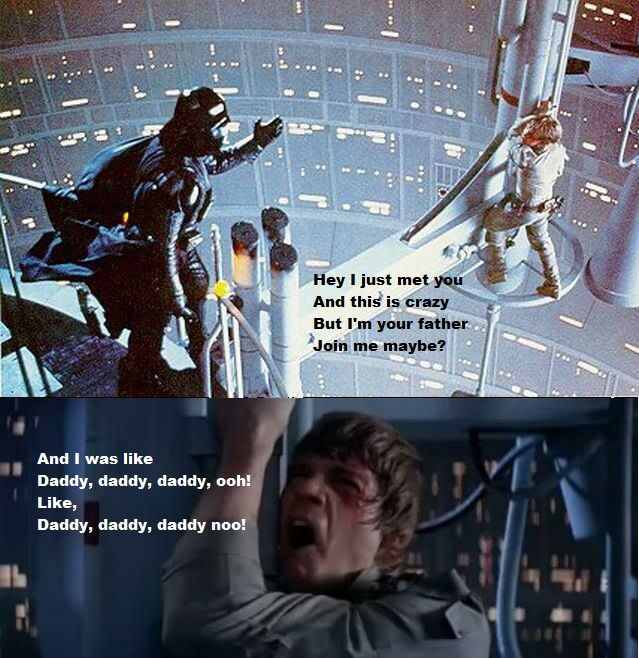 Hey I just met you, and this is crazy....Darth Vader, Jokes, Crazy, Funny Pictures, Funny Stuff, Stars Wars, Fathers, Laughter, I Am