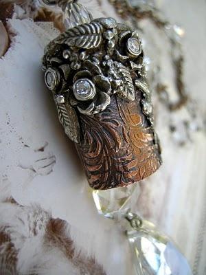 fine silver and copper clay jewelry