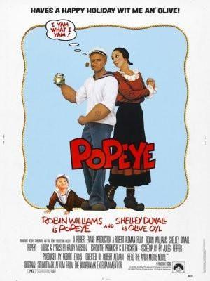 Popeye Movie Poster 25x36 Robin Williams 24inx36in