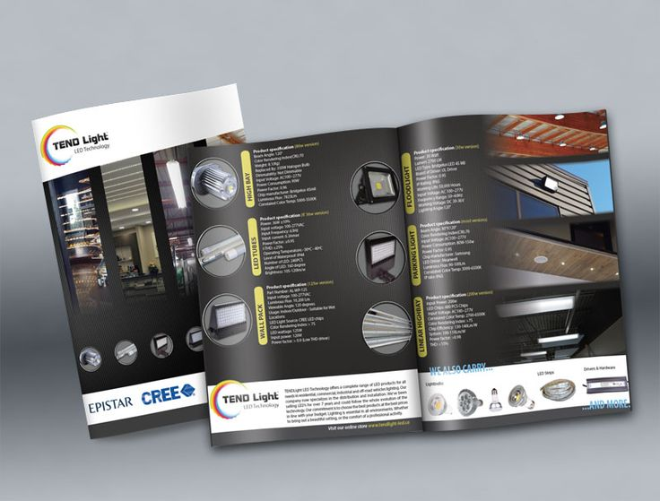 TENDLight LED Technology product flyer. By: Gino Caron Creative Design