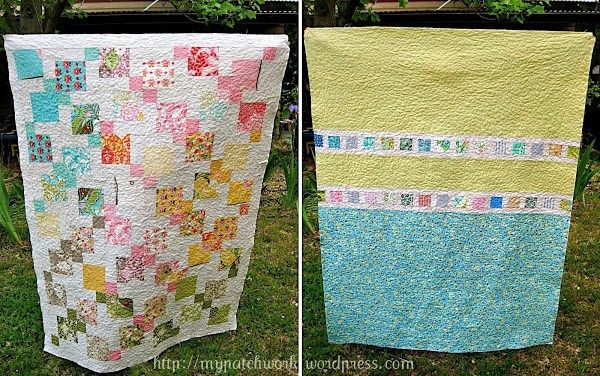 Back of disappearing nine patch quilt | Sewn Up