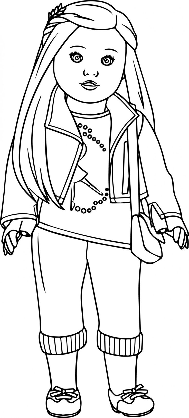 It is a graphic of Astounding American Girl Doll Coloring Pictures
