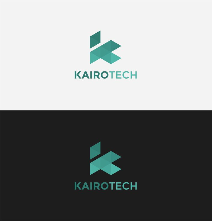 Kairo Tech logo. Simple, modern lettering logo, combination of two letters K and T.
