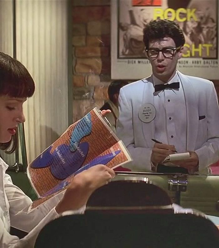 jakelittle:  nickdrake:  Steve buscemi as buddy holly pulp fiction  I HAD BEEN LOOKING FOR SO LONG
