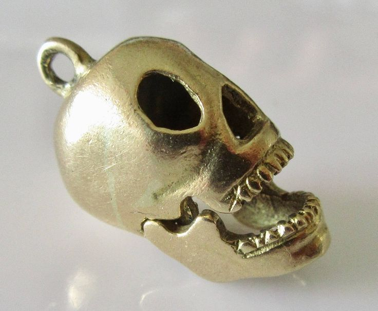 9ct Gold Skull With Moving Jaw Charm Or Pendant By TrueVintageCharms On Etsy