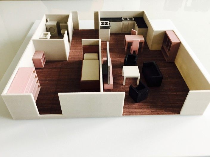 3d printed model of an apartment