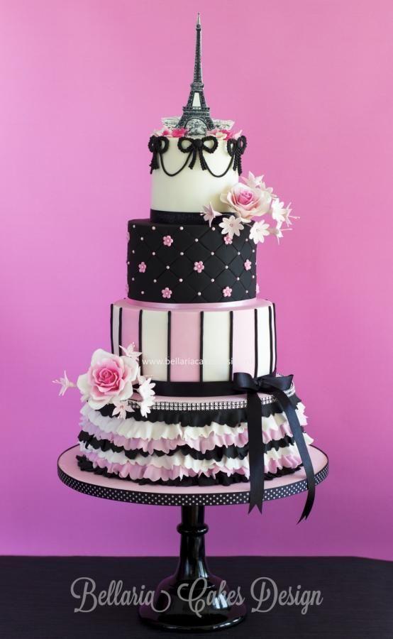 Parisian themed  cake