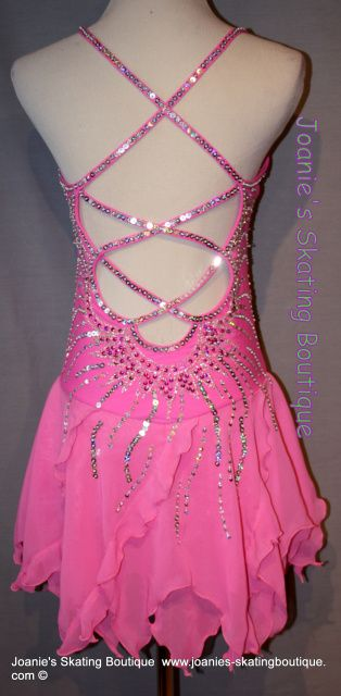 Pretty figure skating dress (back of dress)