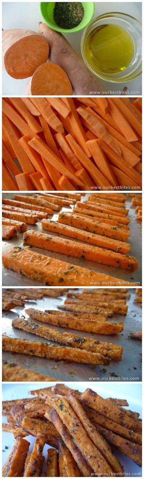 Baked Sweet Potato Fries - Love with recipe