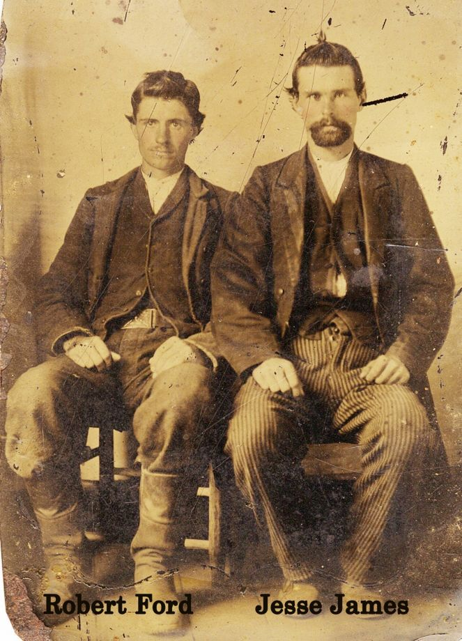 Newly discovered, authenticated photo of Jesse James and Robert Ford, ca.1880's