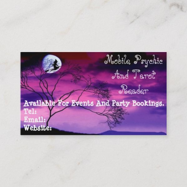 Purple Psychic And Tarot Reader Business Card Zazzle Com Tarot Readers Tarot Tarot Card Readers