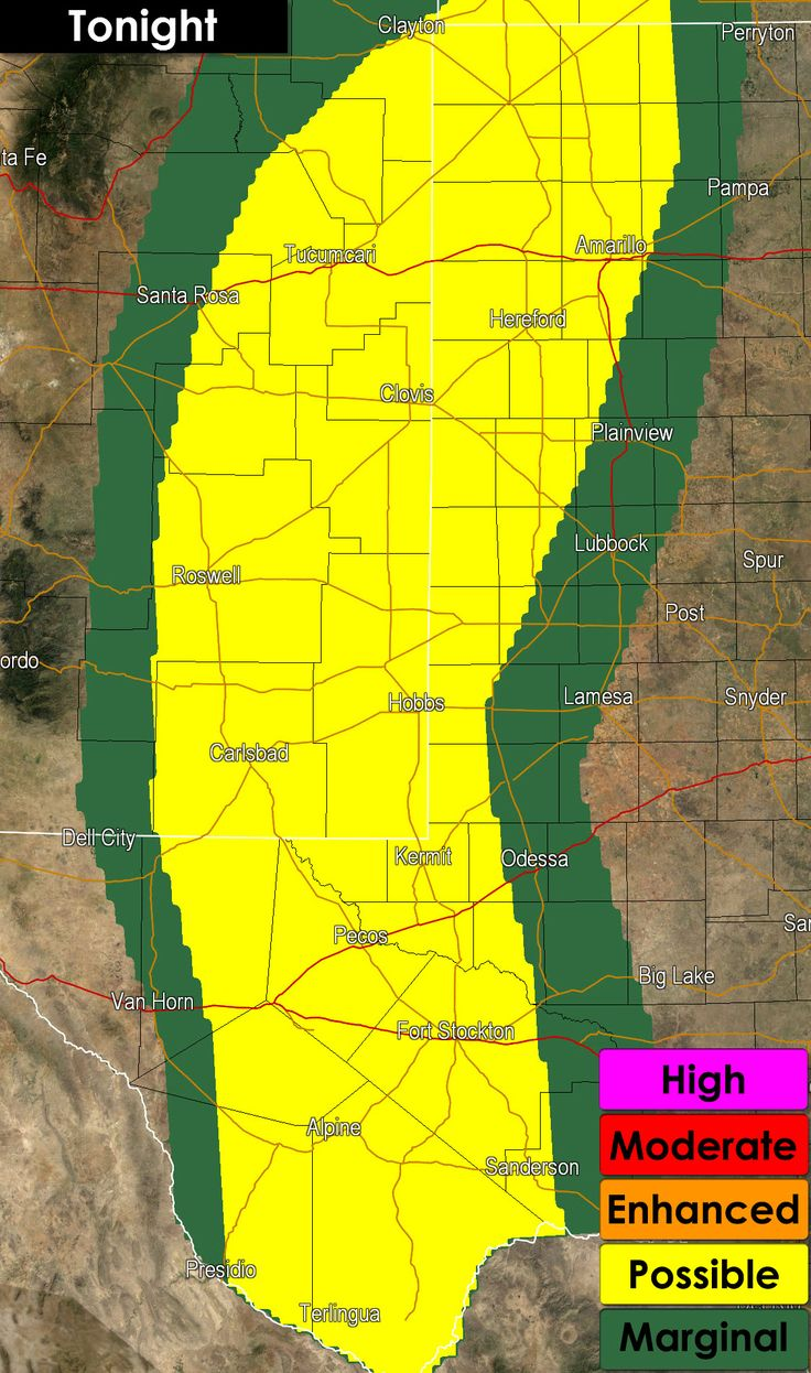 Freer Texas Map%0A     Prediction Center has maintained a level   possible risk for severe  weather into the overnight hours  That risk includes the western Texas  Panhandle