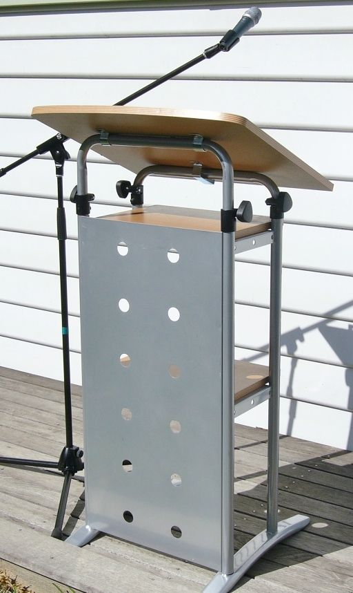 Sylex Lectern with adjustable height and angle.