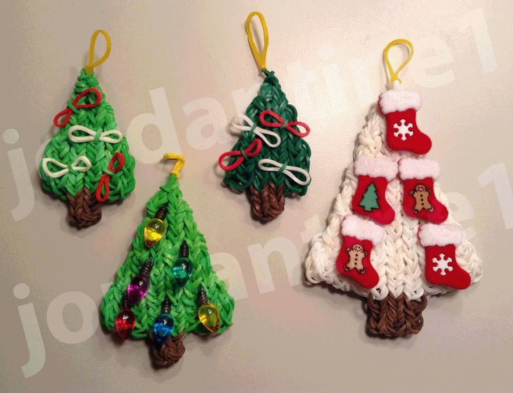 How To Make A Rainbow Loom Decorated Holiday Christmas Tree Charm - Part 1 by  jordantine1