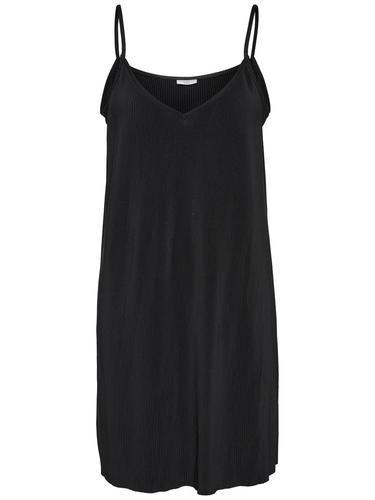 - Kleid von JACQUELINE de YONG - Schmale Schulterträger - Komplett mit Falten versehen - Lockere Passform - Länge: 88 cm in Größe M - Das Model trägt Größe S