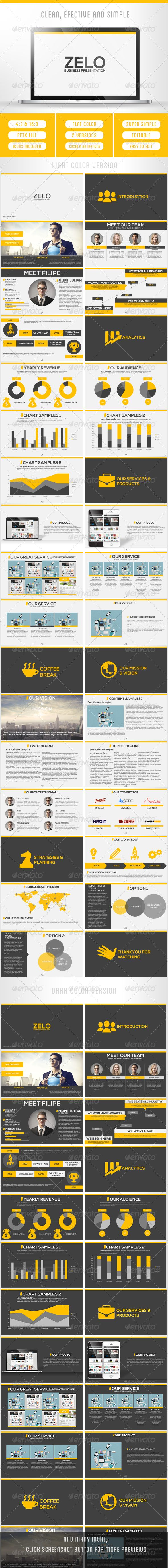 ZELO - Fresh Business Presentation - Business Powerpoint Templates