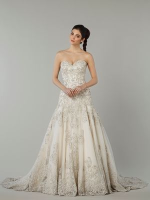 Sweetheart A-Line Wedding Dress  with Natural Waist in Lace. Bridal Gown Style Number:33054966