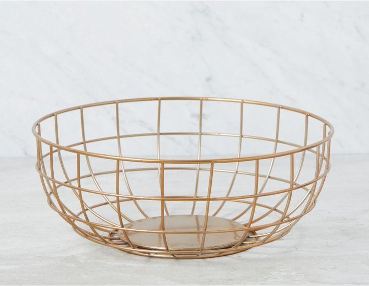 BELEM - Wire Bowl 31cm - Gold
