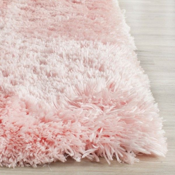 Safavieh Handmade Arctic Shag Pink Polyester Rug ($64) ❤ liked on Polyvore featuring home, rugs, pink, shag rugs, handmade rugs, pink rug, safavieh rugs and plush area rugs