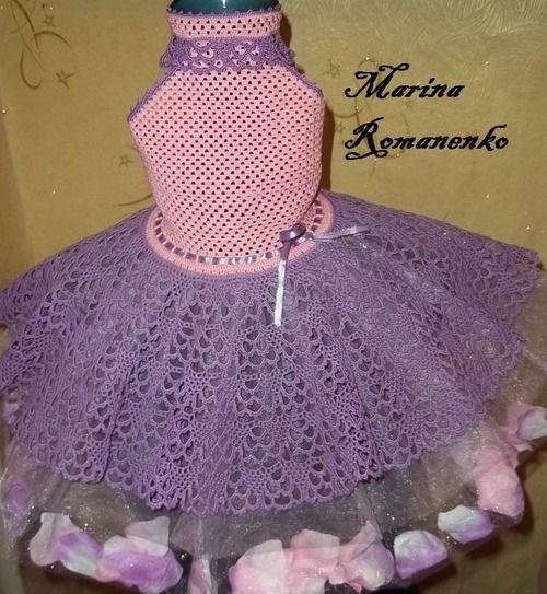 Вязанные платья для детей со схемами и описанием