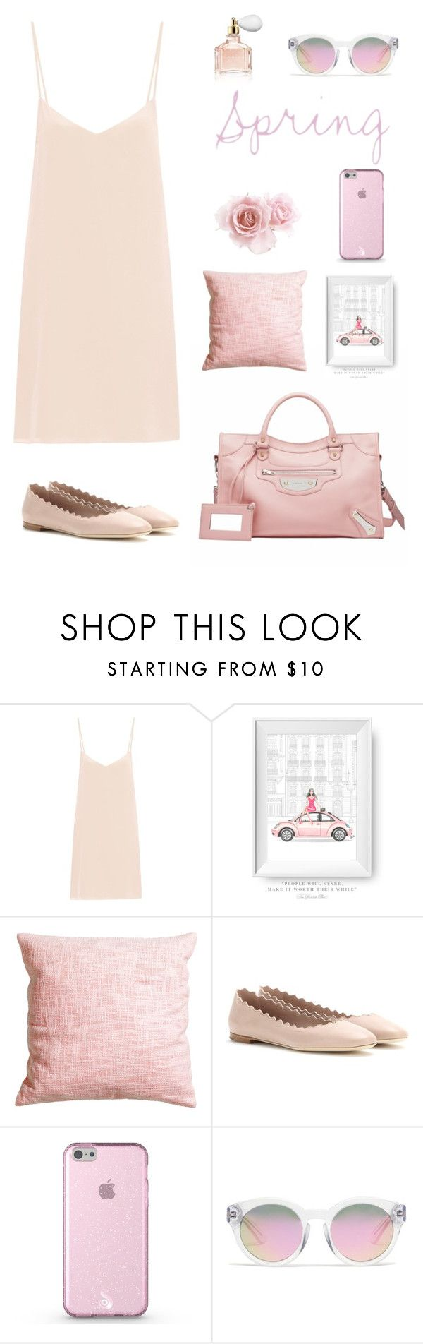 """Discover the pink style"" by licethfashion on Polyvore featuring moda, Raey, H&M, Chloé, Madewell, Guerlain y licethfashion"