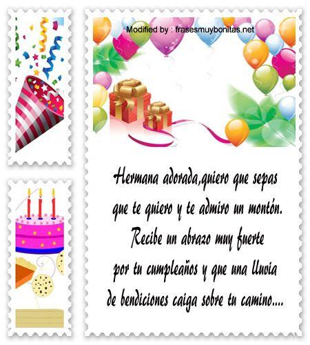 palabras de cumpleaños para mi hermana,saludos originales de cumpleaños para mi hermana:  http://www.frasesmuybonitas.net/mensajes-de-cumpleanos-para-mi-hermana/