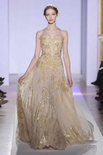 Gold dress da sposa di Zuhair Murad