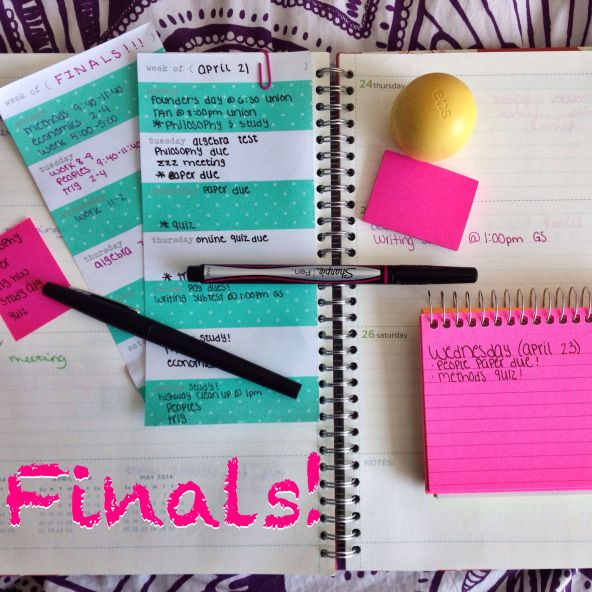Tips on preparing for finals!