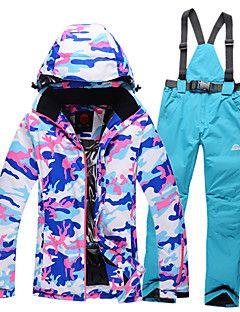 GQY® Mujer Chaqueta y pantalones de Esquí Impermeable Mantiene abrigado Resistente al Viento Listo para vestir Esquí Deportes de Invierno – EUR € 229.07