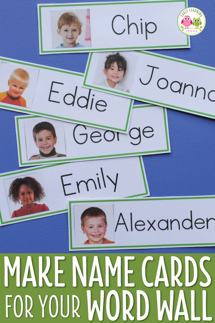 Kids love seeing their name cards up on your classroom word wall. Make your own name cards with the free templates and directions in this article. The name cards can also be used for many literacy activities and games. They are perfect for kids in preschool, pre-k, and kindergarten classrooms.