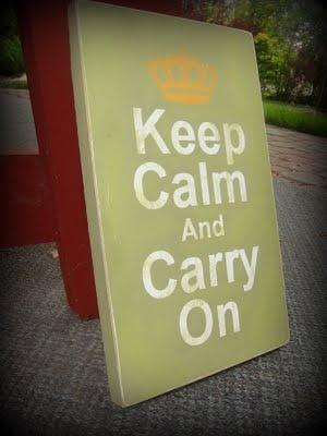 DIY Keep Calm and Carry On Tutorial
