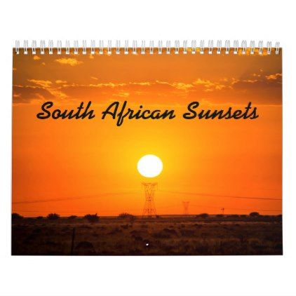 South African Sunsets Calendar - photography gifts diy custom unique special
