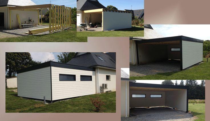 Carports bois - CHB29 - constructions sur-mesures