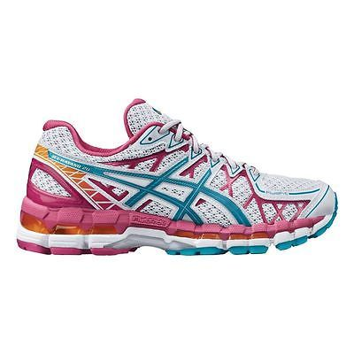 asics gel kayano 20 women's sneakers white/pink/open white